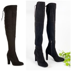 Sam Edelman Kent Black Over the Knee Boots Heel